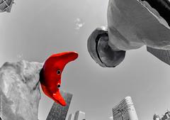 Tête à Tête (L'Abominable Homme de Rires) Tags: ladéfense skyscraper immeuble tour architecture paris canon5d 5dmkiii cannon fisheye 815mmfisheyef4 dxo photolab lightroom