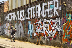 Urban Art (Kev Gregory (General)) Tags: graffiti writings or drawings that have been scribbled scratched painted typically illicitly wall other surface often within public view scene alongside caldon canal outskirts stoke i found quite thought provoking art street urban skill artist