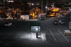 Public Parking Lot (Curtis Gregory Perry) Tags: victoria british columbia parking lot night long exposure car booth ticket boat waterfront nikon d810 west park westpark station wharf street