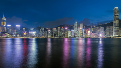 Harbour Lights (syf22) Tags: hongkong harbour water victoriaharbour lightshow symphonyoflights displays laser show dark dusk evening colourful night laserlights modern buildings architecture cityskyline moderncity fareast rainbow dock shelter shore waterfront seafront bay cove inlet earthasia
