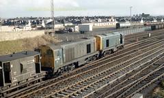 Falkland Yard 20100'102 take the dn loop on track panels early 80's c674 (Ernies Railway Archive) Tags: ayr falklandyard gswr lms scotrail