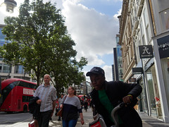 Moron pavement cyclist, Oxford Street. 20180919T14-05-28Z (fitzrovialitter) Tags: england gbr geo:lat=5151474000 geo:lon=014637000 geotagged oxfordcircus oxfordstreet unitedkingdom bloomsburyward peterfoster fitzrovialitter city camden westminster streets urban street environment london fitzrovia streetphotography documentary authenticstreet reportage photojournalism editorial captureone olympusem1markii mzuiko 1240mmpro microfourthirds mft m43 μ43 μft ultragpslogger geosetter exiftool