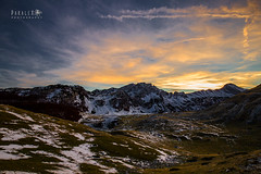 Cloudy Frame (Paralex photography) Tags: sunset sunshine sunrise sky orange color blue pretty sun red clouds montenegro crnagora view nature beautiful horizon amazing rocks rock water twilight springtime landscape lake mountain snow durmitor nationalpark cloudframe