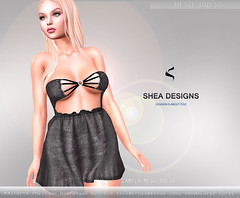 SD Camila Mesh Dress - Black (Shea Designs SL) Tags: maitreya physique hourglass isis freya venus tfine ebodycurvy curvy