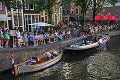 Terrace in Amsterdam (Julysha) Tags: terrace amsterdam people thenetherlands noordholland kade canal boats cafe city summer july 2018 d850 sigma241054art nikon acr dutch