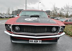 1969 Ford Mustang Boss 302 (pontfire) Tags: 1969 ford mustang boss302 us usa classiccar oldcars antiquecar vieillevoiture voitureancienne voituredecollection uscar americancar car cars auto autos automobile automobiles voiture voitures coche coches carro carros redcars voiturerouge champagneardenne villedereims lamarne france reims automobiledecollection automobileancienne americancars voitureaméricaine salonchampenoisduvéhiculedecollection lesbelleschampenoisesdépoque worldcars 69 musclecars americanmusclecars