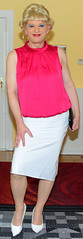 Birgit027155 (Birgit Bach) Tags: skirt rock pvc top satin