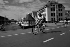 Bikes everywhere (gio_artioli) Tags: street streetphotography bn blackandwhite copenaghen denmark bike girl nikon nikond3300