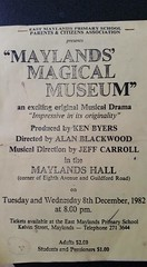 1982. Advertising. Maylands Magical Museum (Maylands Historical & Peninsula Association) Tags: maylandsmagicalmuseum1982ce advertising