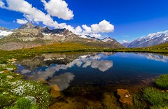 Schwarzsee oberhalb Zermatt (sylviafurrer) Tags: berge mountain mountainlake bergsee wolken clouds wallis valais himmel sky schwarzsee