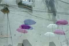 Acid dropping Mary Poppins (von8itchfisk) Tags: doubleexposure noedit incamera expiredfilm 35mm film fuji olympus om10 umbrella ishootfilm filmisnotdead vonbitchfisk analog analogue