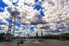 London Baby (mystero233) Tags: london uk capital town gb greatbritain england river thames eye westminster bigben tower boat ship clouds cloud sky water landscape cityscape europe outdoor