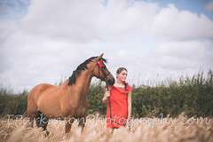(eparkinsonphotography.com) Tags: outdoors portrait field wheat summer horse pony equine equestrian girl red