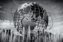 The Unisphere - Flushing, Queens, NYC (tenchiro) Tags: sonya7 sonysonnartfe35mmf28za blackandwhite monochrome unisphere flushingmeadows queens nyc new york city