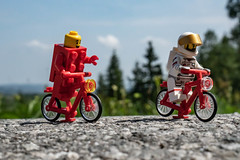 ...and these two guys still following me (genelabo) Tags: fahrrad tour bike bicycle bodensee benediktbeuern sony 35mm lego minifigure minifig grass clouds street strase asphalt brick spaceman astronaut square quadrat road sky mountain
