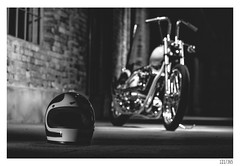 Helmet (Aljaž Anžič Tuna) Tags: helmet chopper easy rider chop shop custom bike motor motorcycle photo365 project365 onephotoaday onceaday 365 35mm 365challenge 365project nikond800 nikkor nice nikon nikon105mmf28 105mmf28 f28 d800 dailyphoto day bw blackandwhite black white blackwhite beautiful