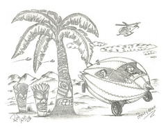 Honeymoon (rod1691) Tags: myart art sketchbook bw scfi grey concept custom car retro space hotrod drawing pencil h2 hb original story fantasy funny tale automotive illustration greyscale moonpies sketch sexy voodoo honeymoon