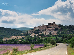 colors of the Provence near Sault (Wilma van Oorschot) Tags: wilmavanoorschot angelphotography olympusem5 olympusomde5 olympus mzuikodigitaled1250mm13563 provence sault lavande lavender lavenderfields flowers road village clouds france nature outdoor