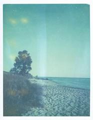 "Lakefront (dreamscapesxx) Tags: instant polaroid keystone60secondeverflash polaroid669film expired expiredfilm peelapart packfilm ""lakemichigan"" lakeshore lakefront michigan"