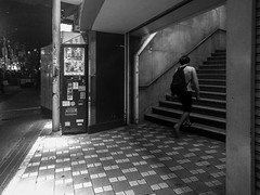 #250 Stairs (tokyobogue) Tags: tokyo japan shibuya nexus6p nexus 365project blackandwhite blackwhite monochrome shibuyastation stairs street streetphotography night