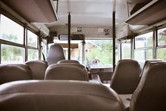 denali [bus] (i threw a guitar at him.) Tags: alaska summer 2018 denali national park united states usa bus green inside dashboard depot transport transportation travel adventure