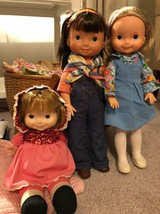 Ready to play (Foxy Belle) Tags: friend fisher price doll childhood mandy jenny natalie lapsitter 1970s