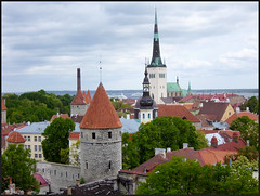 Tallin, Estonia. (Country Girl 76) Tags: tallin estonia towers ancient walls interesting 13th century gothic town hall cobble stones architecture