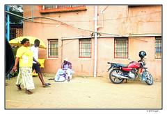 street blues ... (harrypwt) Tags: harrypwt ghana accra africa afrika city fujix70 x70 borders framed people street paintinglike