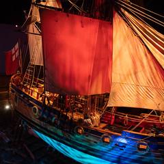 Come Sail Away (Roblawol) Tags: eosm50 historic northamerica canon manitoba artifact blue ship trading museum british history sails canada eos past historical winnipeg