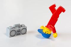 Breakin.... (Suggsy69) Tags: nikon d5200 lego legominifigure minifigure dance dancing breakin breakdancing headspin spinning music beatbox fletcher