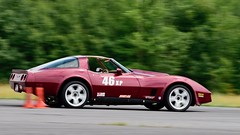 Classic Vette (R.A. Killmer) Tags: maroon burgundy blur fast cone autocross auto chevy corvette scca competition central pa midstate airport panning drive driver race racer