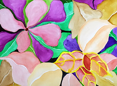 Watercolor Painting (Imara U.) Tags: watercolor watercolors pintura painting colorful colors color colorido flores flowers pattern nature art arte aquarela artista artist finearts work inspirations