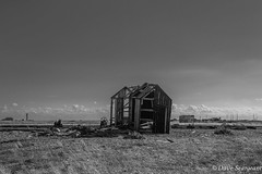The Dungeness shed (daveseargeant) Tags: dungeness kent nikon df monochrome seascape sea coast landscape white black shed 50mm 18 g timber structure decrepit