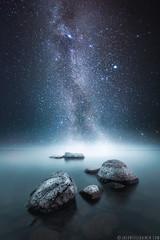 Jason Tiilikainen - Nightlight III (Jason Tiilikainen) Tags: composite night finland lake suomi joensuu rocks fine art water cool space milky way nikon d7100 sigma