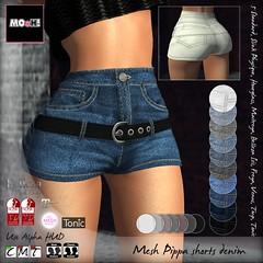 Pippa shorts denim (Dalriada Delwood (MOoH!)) Tags: mooh sale discount mainstore sl second life