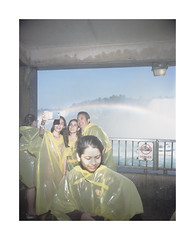 Selfie (Baipin) Tags: linhof zeiss photo film street medium format 6x7 colour portra analog rainbow niagra falls concrete nature self wet modern contemporary