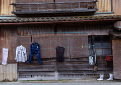 Clthes drying in front of a funaya house, Kyoto prefecture, Ine, Japan (Eric Lafforgue) Tags: architecture asia boathouse boots buildingexterior builtstructure clothes colorimage cultures day drying fishingindustry funaya harbour horizontal house ine japan japan18220 journey kyotoprefecture nopeople outdoors photography scenics tourism traditionalbuilding tranquilscene tranquility traveldestinations village woodmaterial wooden jp