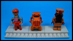 Harry Legs, Foxxy Feet and Hoonoze (Karf Oohlu) Tags: lego moc figure minifig wtf fantasy nightmare tentacles flathead hairylegs foxylegs