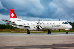 HB-IZD Saab 2000 SkyWork Airlines (Andreas Eriksson - VstPic) Tags: hbizd saab 2000 skywork airlines stored orb since 5th september