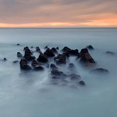 """""""Four Horsemen"""" (PeskyMesky) Tags: dunnottar dunnottarcastle rocks longexposure water sea ocean sunset aberdeenshire scotland canon canon6d leefilter littlestopper"""
