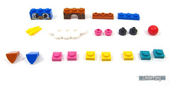 Parts assortment (WhiteFang (Eurobricks)) Tags: lego bind bags unikitty series 1 brick built animals kitty puppy box colourful vibrant sunshine cheerful fun pink