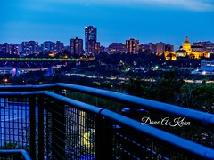 Over The Line (khan_dane) Tags: dusk nightscape cityscape downtown alberta edmonton
