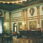 Newark  Ohio - Licking County Courthouse - Interior Courtroom thumbnail
