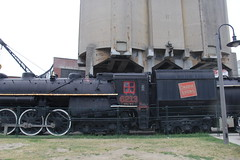 Train at the Coaling Tower (Suzanne Guest) Tags: coalingtower cnnational toronto ontariocanada park railwaylands museum