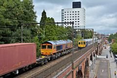 Mixed Traffic (whosoever2) Tags: uk united kingdom gb great britain england nikon d7100 train railway railroad august 2018 manchester gbrf class66 66733 4l18 traffordpark felixstowe northern class319 319368 1n49 blackpool