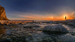 Midnight Sun Silhouette (Julia Altermann Photography) Tags: norway lenstagger nordland no