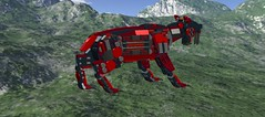 N980NGB0xSmilodonxMech2 (demitriusgaouette9991) Tags: lego military army future ldd armored deadly powerful runner mecha