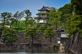 Imperial Palace Guard Tower and Moat - Tokyo Japan