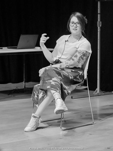 P7260183 Sarah Corbett at Winchester Skeptics