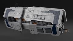 Munsin Class Escort Frigate (noblebun) Tags: lego space spaceship spacecraft homeworld render